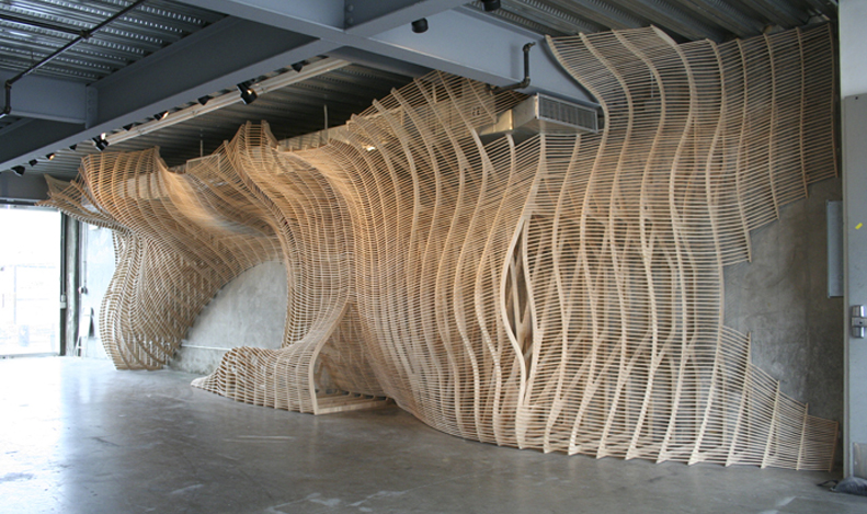 SCI Arc installation   Digital Furniture Design - Design and